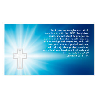 Jeremiah 29; 11-14 - Christian Business Card
