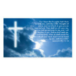 Jeremiah 29; 11-14 | Christian Double-Sided Standard Business Cards (Pack Of 100)
