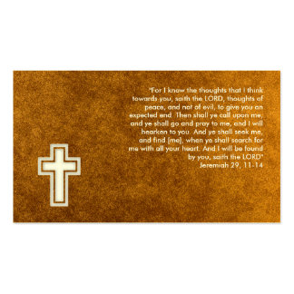 Jeremiah 29; 11-14 - Christian Gold Business Card