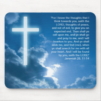 Jeremiah 29; 11-14 - Mousepad cristiano Alfombrillas De Ratones