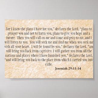 Jeremiah 29:11-14 Scripture Poster