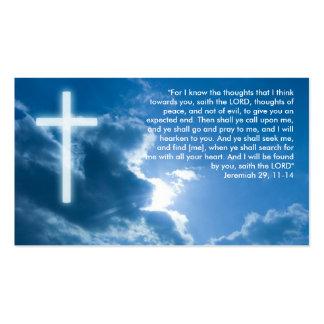 Jeremiah 29; 11-14 - Tarjeta de visita cristiana