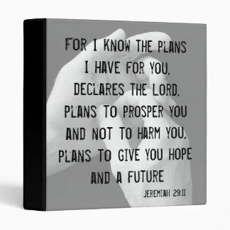 """Jeremiah 29:11 1"""" Binder"""
