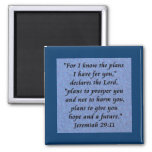 jeremiah 29-11 2 inch square magnet