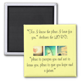 Jeremiah 29:11 2 inch square magnet