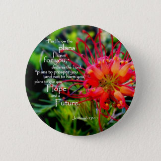 Jeremiah 29:11 A Hope and a Future Pinback Button