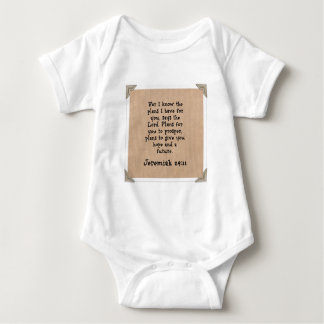 Jeremiah 29:11 baby bodysuit