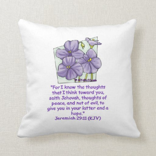 Jeremiah 29:11 Bible Promise Pillows