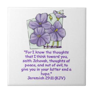Jeremiah 29:11 Bible Promise Small Square Tile
