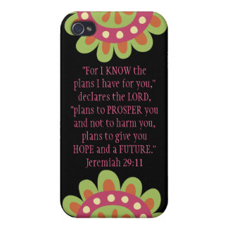 Jeremiah 29 11 Bible Verse iPhone Black Pink Case iPhone 4 Cases