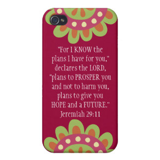 Jeremiah 29 11 Bible Verse iPhone Hot Pink Case Case For iPhone 4