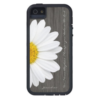 Jeremiah 29:11 Bible Verse, Rustic Daisy iPhone SE/5/5s Case