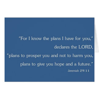 Jeremiah 29:11 Blank Christian Inspiration Card