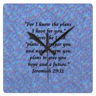 jeremiah 29-11 clock