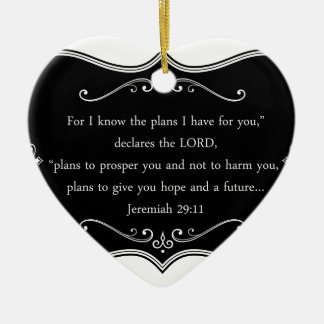 Jeremiah 29:11 Custom Christian Gift Ceramic Ornament