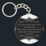 "Jeremiah 29:11 Custom Christian Gift Keychain<br><div class=""desc"">For I know the plans I have for you, "" declares the LORD, ""plans to prosper you and not to harm you, plans to give you hope and a future…Jeremiah 29:11 This is a custom product with a great Bible verse to share your faith. You can use the background given...</div>"