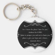 Jeremiah 29:11 Custom Christian Gift Keychain at Zazzle
