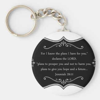Jeremiah 29:11 Custom Christian Gift Keychain