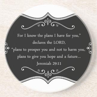 Jeremiah 29:11 Custom Christian Gift Sandstone Coaster