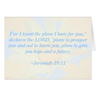 Jeremiah 29:11 Daisy-Patterned Greeting Card