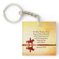 Jeremiah 29:11 For I know the plans I have for you Keychain