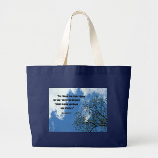 Jeremiah 29:11 For I know the plans I have for you Large Tote Bag