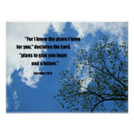 Jeremiah 29:11 For I know the plans I have for you Posters