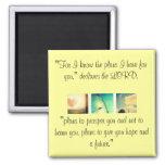 Jeremiah 29:11 fridge magnet