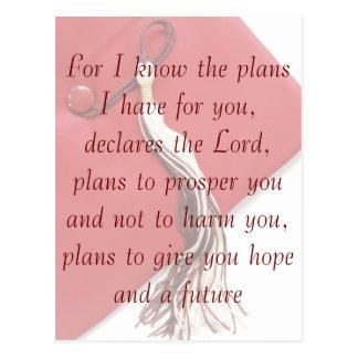 Jeremiah 29:11 Graduation Postcard