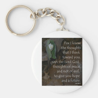 Jeremiah 29:11 hope for the future keychain