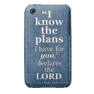 Jeremiah 29:11 I Know The Plans Bible Verse iPhone 3 Case-Mate Case