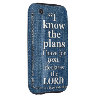 Jeremiah 29:11 I Know The Plans Bible Verse iPhone 3 Tough Covers