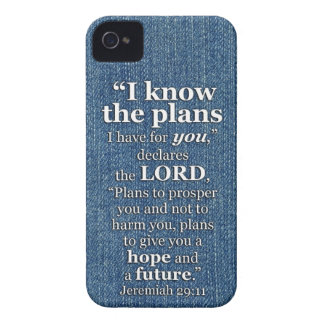 Jeremiah 29:11 I Know The Plans Bible Verse iPhone 4 Case