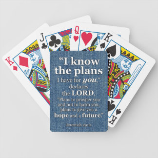 Jeremiah 29:11 I Know The Plans Bible Verse Quote Bicycle Playing Cards