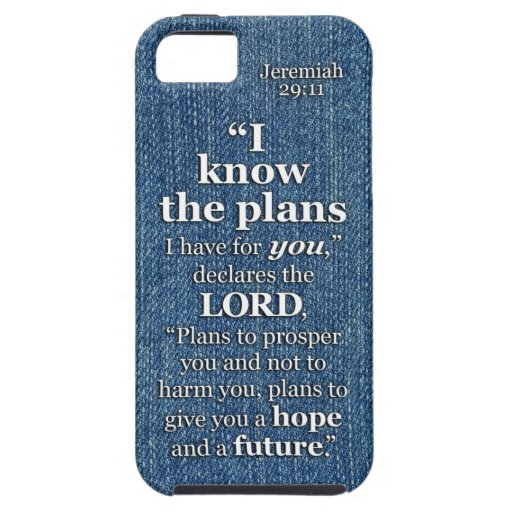 Jeremiah 29:11 I Know The Plans Bible Verse Quote iPhone 5 Cases