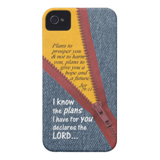 Jeremiah 29:11 I Know The Plans Blue Denim Zip Up iPhone 4 Cover