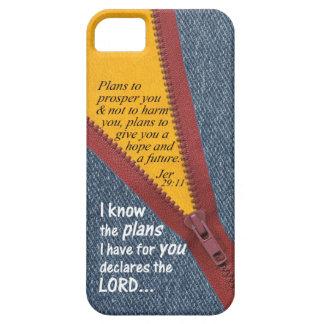 Jeremiah 29:11 I Know The Plans Blue Denim Zip Up iPhone SE/5/5s Case