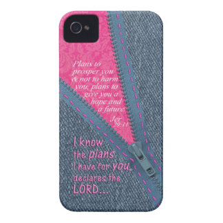 Jeremiah 29:11 I Know The Plans Denim Zipper Pull iPhone 4 Cover