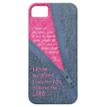 Jeremiah 29:11 I Know The Plans Denim Zipper Pull iPhone 5 Cover