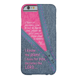 Jeremiah 29 11 I Know The Plans Denim Zipper Pull iPhone 6 Case