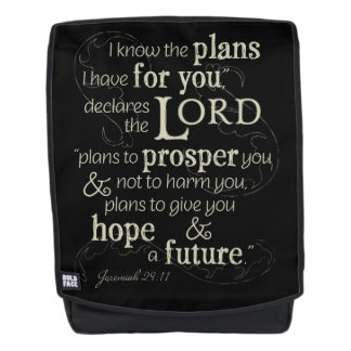 Jeremiah 29:11 I know the plans I have for you... Backpack