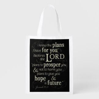 Jeremiah 29:11 I know the plans I have for you... Grocery Bag