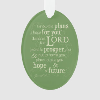 Jeremiah 29:11 I know the plans I have for you... Ornament