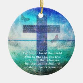 Jeremiah 29 11 Inspirational Biblical verse Christmas Ornament