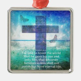 Jeremiah 29 11 Inspirational Biblical verse Christmas Ornaments