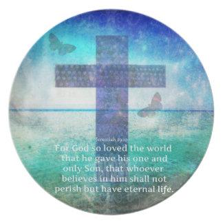 Jeremiah 29:11 Inspirational Biblical verse Plates