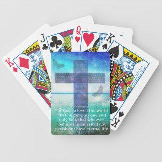 Jeremiah 29:11 Inspirational Biblical verse Bicycle Poker Cards