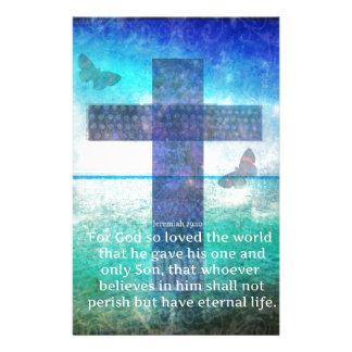 Jeremiah 29:11 Inspirational Biblical verse Stationery