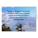 JEREMIAH 29:11 INSPIRATIONAL VERSE CARD