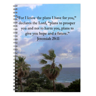 JEREMIAH 29:11 INSPIRATIONAL VERSE NOTEBOOK